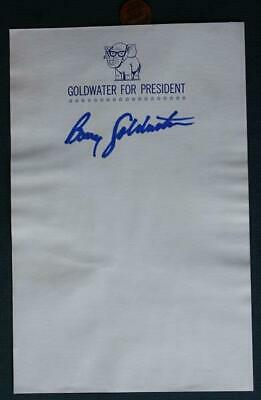 1964 Senator Barry Goldwater for President HAND-SIGNED autographed letterhead!*