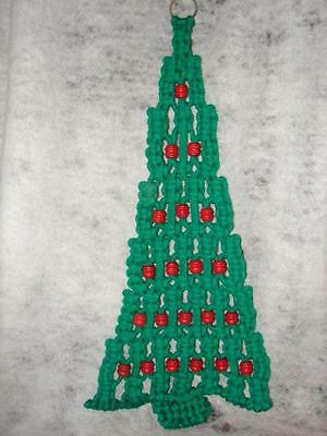 Handmade Handcrafted Macrame Christmas Tree Wall Decor Hanging - 32 inches tall