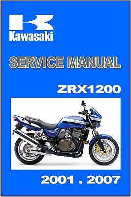 kawasaki workshop manual zrx1200 zrx1200r zrx1200s 2002 2003 2004 2005 2006  2007