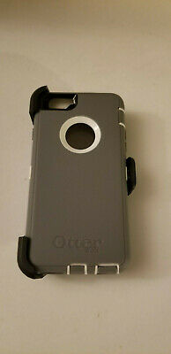 OtterBox Defender GREY/WHITE Case w/Holster Belt Clip for iPhone 6s & iPhone 6