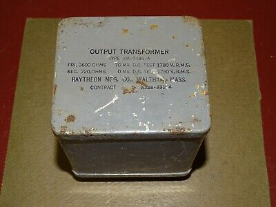 Raytheon UX-7489A Audio Output Transformer 3600 to 720 Ohms, Good