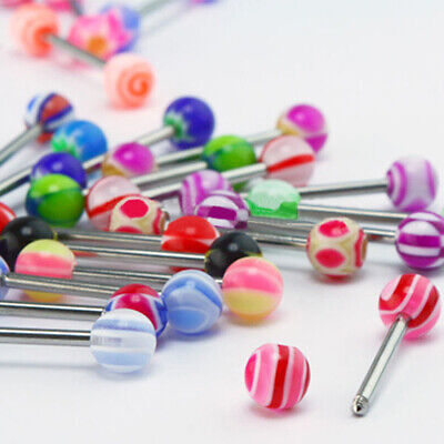 30Pcs HOT Tounge Rings 316L Surgical Steel Barbell Body Piercing Jewelry Little