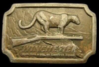 Lb16152 Vintage 1976 ***Winchester Firearms*** An American Legend Cougar Buckle