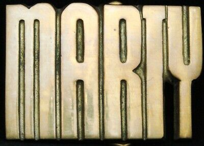 KJ08142 *NOS* VINTAGE 1970s CUT-OUT NAME ***MARTY*** SOLID BRASS BUCKLE