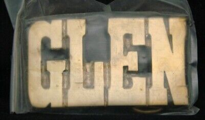 LF22132 *NOS* VINTAGE 1970s/80s CUT-OUT NAME ***GLEN*** SOLID BRASS BUCKLE