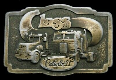 Kd04134 Great 1978 Vintage ***Peterbilt Class*** Trucks Belt Buckle