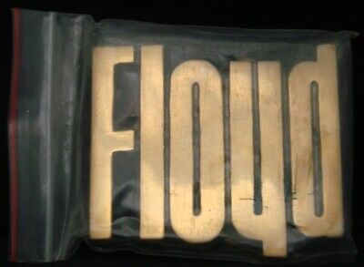 LF22129 *NOS* VINTAGE 1970s/80s CUT-OUT NAME ***FLOYD*** SOLID BRASS BUCKLE