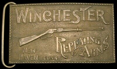 Lk26194 Vintage **Winchester Repeating Arms** Gun Brass Fantasy Collector Buckle