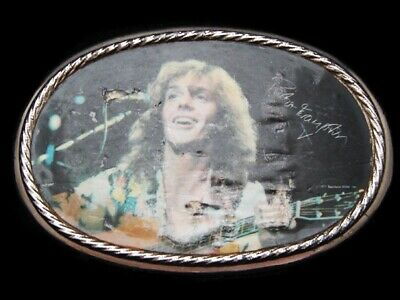 LH19134 VINTAGE 1970s **PETER FRAMPTON** PLAYING LIVE MUSIC BELT BUCKLE