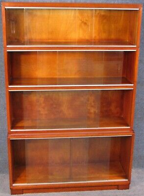 Minty Oxford Mahogany 4 Tier Stacking Bookcase Cabinet