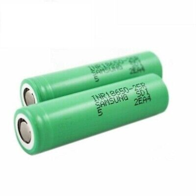 2 Pack Samsung 25R 18650 2500mAh 35A Rechargeable Battery for Vape Mods USA