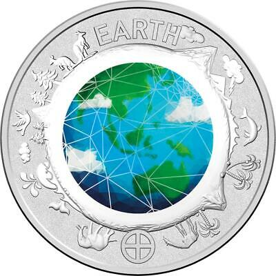 2017 Coloured Ten Cent Coin from Australian Planetary Coins Collection - Earth
