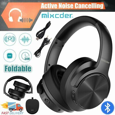 Mixcder Foldable Wireless Bluetooth Noise Cancelling Headphone Headset Earphones