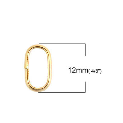 Stainless Steel Opened Jump Rings Findings Oval Gold Plated Jewelry making 20PCs