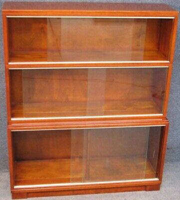 Minty Oxford Mahogany 3 Tier Stacking Bookcase Cabinet No 1