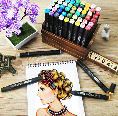 Touch Mark Professional Oily Alcohol Twin Tip Marker Pens Art Broad
