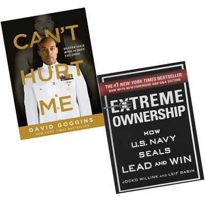 Can't Hurt Me: Master Your Mind,Extreme Ownership 2 Books Collection Set New