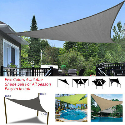 Triangle Waterproof Sun Shade Sail Garden Patio Awning Canopy Sunscreen UV Block