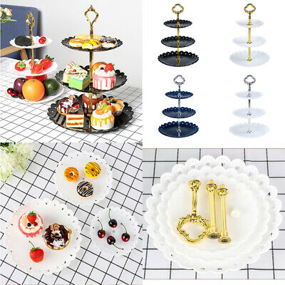 AU 3 Tier Cake Cupcake Plate Stand Birthday Wedding Party Tri-layer Food Holder