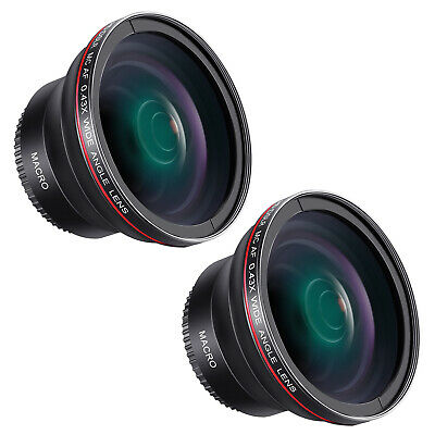 55mm 0.43x HD Wide Angle Lens for Nikon D3400 D5600 and Sony Alpha Cameras