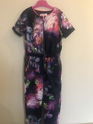 Ted Baker Girls Floral Jumpsuit Outfit 6 Years