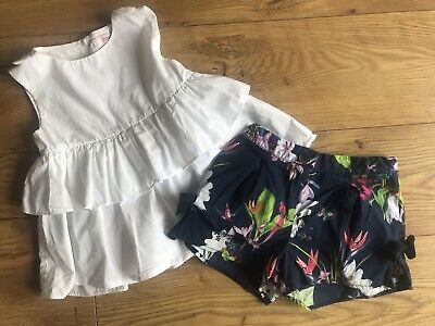 Ted Baker Girls Shorts Outfit 7 Years