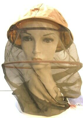 Wwii Us Army Military Issue Headnet Insect Mosquito M1944 Beekeeper Style W/Tag