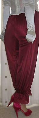 Vintage inspired Victorian~Edwardian style dark red burgundy bloomers~culottes