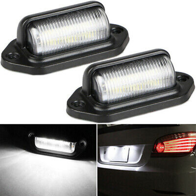 1 Pair Waterproof 6 Led 12/24V Car Trailer License Plate Light Tail Lamp Faddish