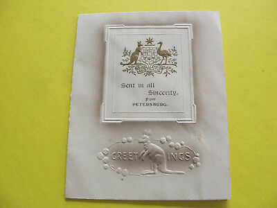 1915 Australian Crest Christmas Card Petersburg South Australia