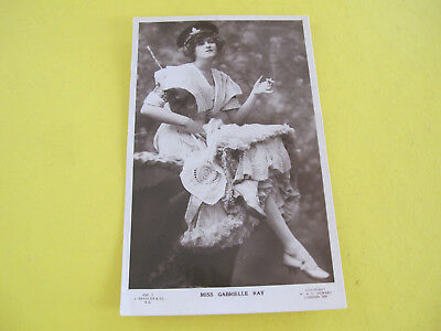 Miss Gabrielle Ray Actress Glamour Beagles Postcard