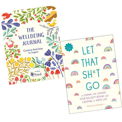 Wellbeing Journal,Let That Sh*t Go(Zen as F*ck Journals) 2 Books Collection Set