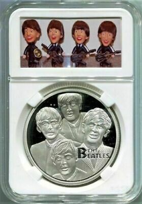 Beatles Silver Coin in a REMCO DOLLS  Presentation Case with Stand
