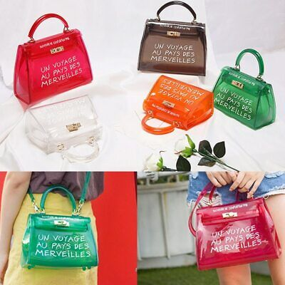 "NEW HOT ""UN VOYAGE AU PAYS DES MERVEILLES"" Jelly Bag Tote Handbag Shoulder Bag"