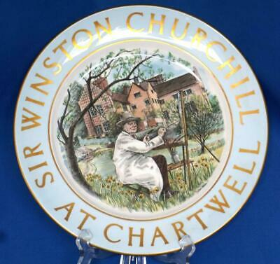 Sir Winston Churchill at Chartwell Decorative Cabinet Porcelain Plate