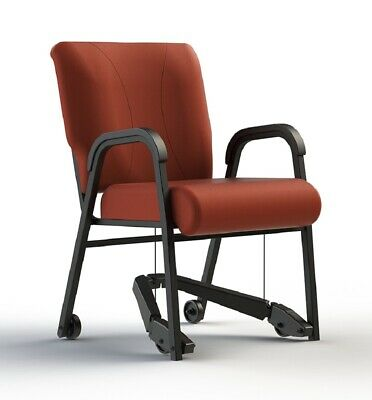 "NEW Comfortek Titan Royal EZ CORDOVAN 18"" Seat Rolling Chair"