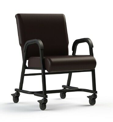 "NEW Comfortek Titan Castered ROOTBEER 20"" Seat Rolling Chair"