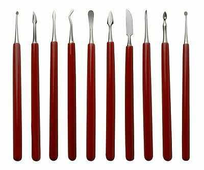 10 Pack of Soft-Grip Wax Carvers Jewelry Making Detailers Carving Shaping Tools