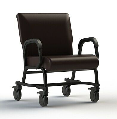 "NEW Comfortek Titan Castered ROOTBEER 24"" Seat Rolling Chair"