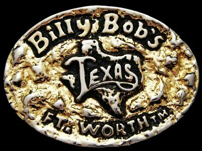 JI21148 VINTAGE 1980s **BILLY BOB'S TEXAS** COUNTRY MUSIC CLUB FT. WORTH BUCKLE