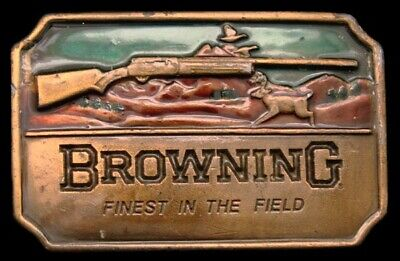 LC04138 NICE VINTAGE 1970s ***BROWNING*** SHOTGUN FINEST IN THE FIELD BUCKLE