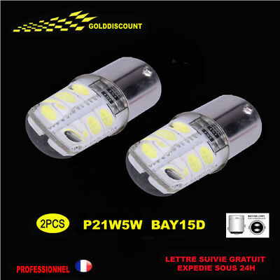p21/5w led  6000k blanc pur protection silicone new 2018 veilleuse stop -