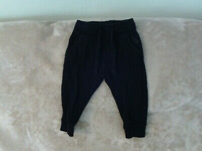 Boys 12-18 Months -  Navy Blue Joggers Sports Trousers - Next