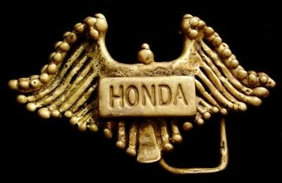MG20142 HANCRAFTED 1960s ***HONDA*** MOTORCYCLES CUSTOM MADE SOLID BRASS BUCKLE