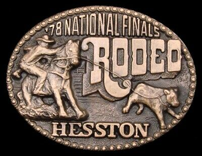 Mh12104 *Unused* Nfr ***1978 National Finals Rodeo*** Hesston Collector Buckle
