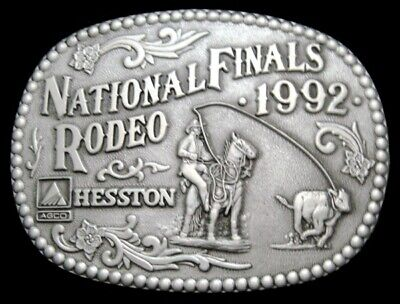 Mh12122 *Unused* Nfr ***1992 National Finals Rodeo*** Hesston Collector Buckle