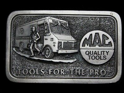 MA25163 VINTAGE 1980s **MAC QUALITY TOOL** TOOLS FOR THE PRO BELT BUCKLE