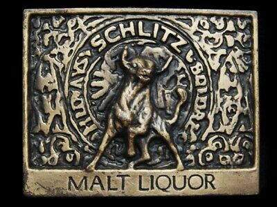 MG03146 VINTAGE 1970s **SCHLITZ MALT LIQUOR** BEER BELT BUCKLE