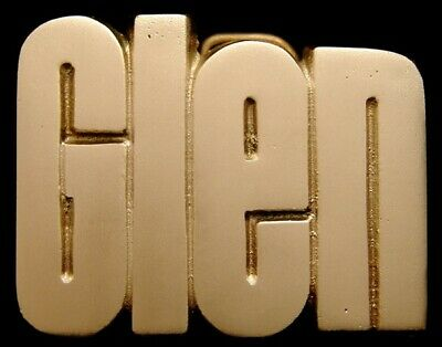 Mh14177 *Nos* Vintage 1978 Cut-Out Name ***Glen*** Solid Brass Buckle