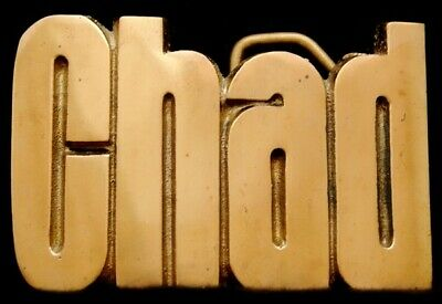MH14155 *NOS* VINTAGE 1970s CUT-OUT NAME ***CHAD*** SOLID BRASS BUCKLE
